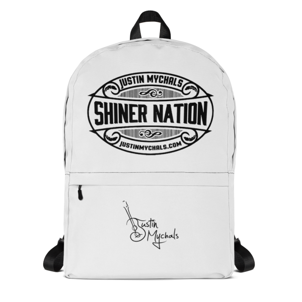 Justin Mychals Guitar Logo Backpack