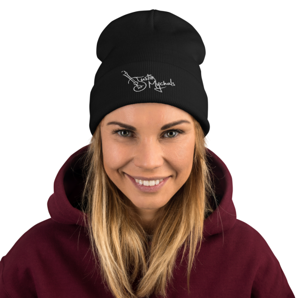 Justin Mychals Guitar Logo Embroidered Beanie