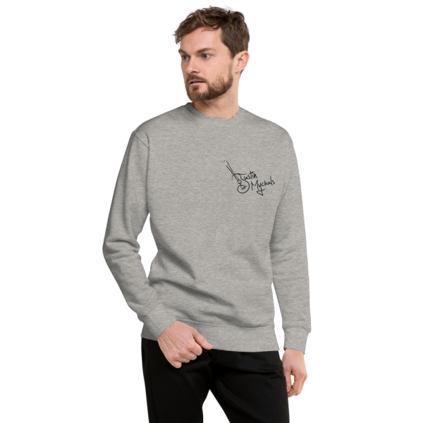 Justin Mychals Guitar Breast Logo Unisex Fleece Pullover