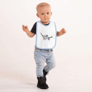 Justin Mychals Guitar Logo Embroidered Baby Bib