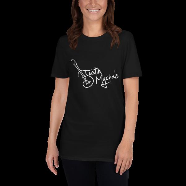 Justin Mychals Guitar Logo Short-Sleeve Unisex T-Shirt
