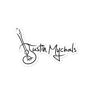 Justin Mychals Guitar Logo Bubble-free stickers