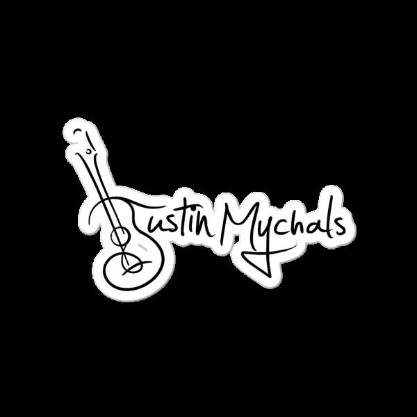 Justin Mychals Guitar Logo Bubble-free stickers