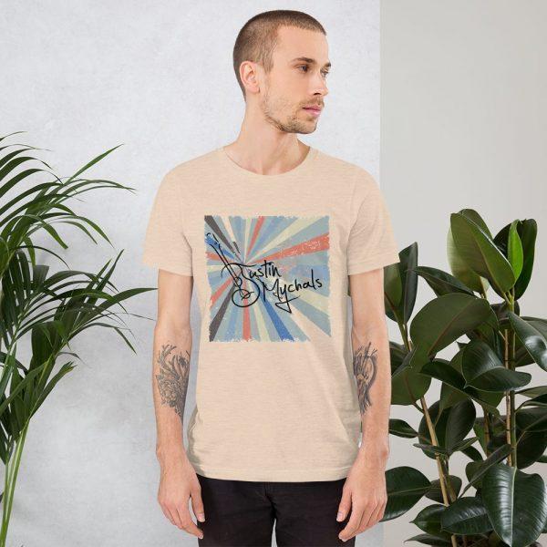 Mandolin Morning Sunrise  w/Justin Mychals LogoShort-Sleeve Unisex T-Shirt